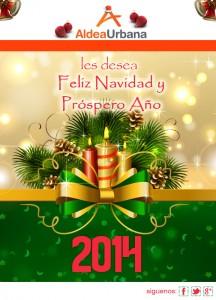 Tarjeta de Navidad Aldea Urbana
