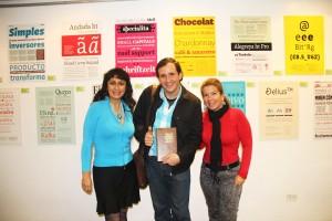 Nelli Escudero de Eventos, Jose Diaz Barisic, tallerista venezolano y Karen Stiegler, Directora ,