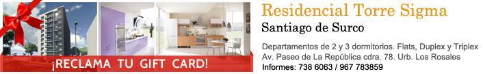 Departamento en Santiago de Surco